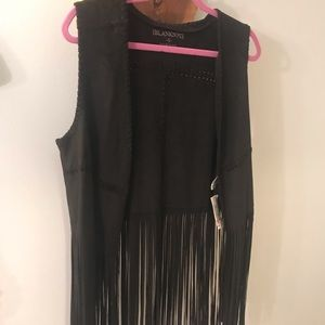 Black fringe vest (never worn)